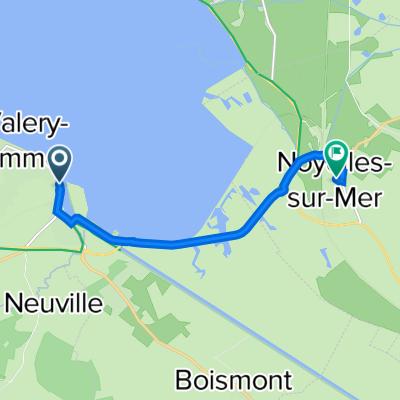De Quai Lejoille 55, Saint-Valery-sur-Somme à Rue de l'Église 3, Noyelles-sur-Mer