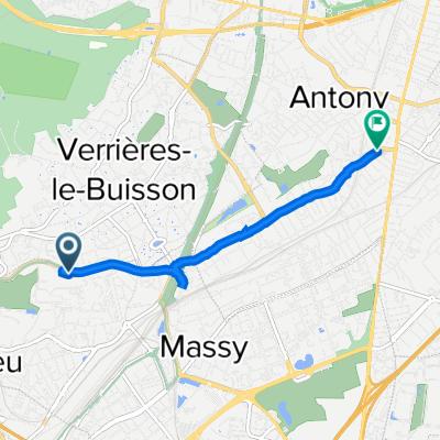 De 18 Rue Jean Rostand, Massy à 1–27 Rue de Bône, Antony
