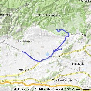 France minerve to rieux-minervois