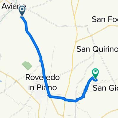 Da Via Pordenone 71A, Castello d'Aviano a Via N. Aprilis 23, San Quirino