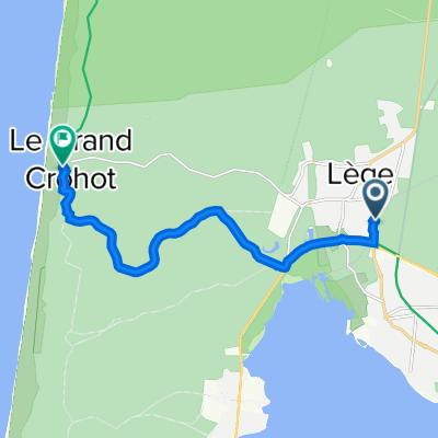 Itinéraire à partir de 1 Avenue de la Mairie, Lège-Cap-Ferret