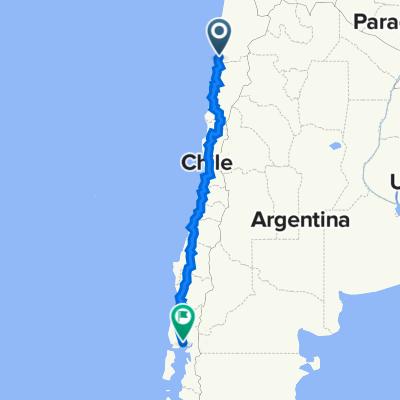 Taltal naar Puerto Montt