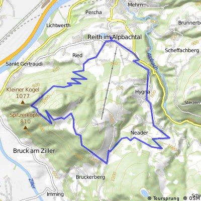 reith hygna neader kerschbaumsattel panoramaweg wieder runter