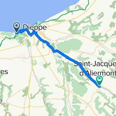 243 Cavée des Pâtis-Doux, Hautot sur Mer nach 2 Impasse de la Gare, Saint-Vaast-d'Equiqueville