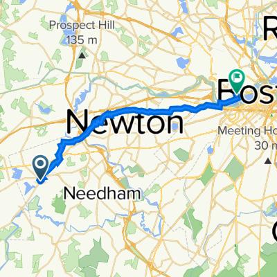 7 Norfolk Terr, Wellesley to 77 Massachusetts Ave, Cambridge