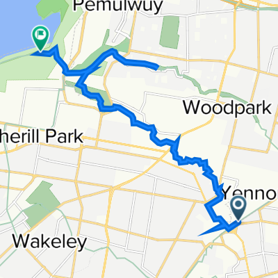 Route from 1A Pine Road, Fairfield