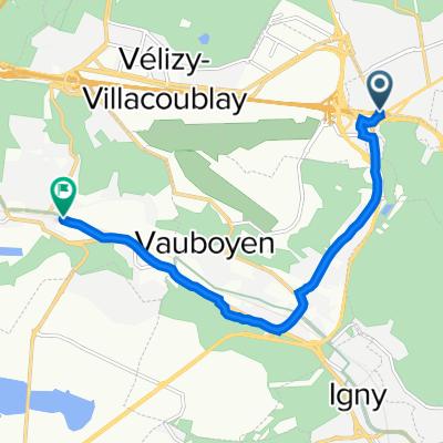 De 1 Route de la Garenne, Clamart à 63 Avenue Jean Jaurès, Jouy-en-Josas