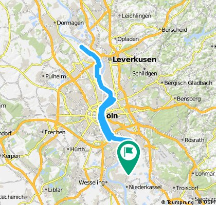 Pz-Zündorf nach K-Langel(Fähre) und zurück