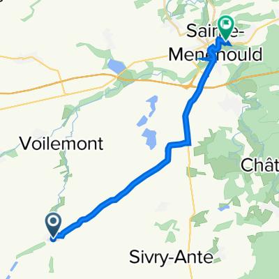 Rue de l'Étang 4, Dampierre-le-Château to Faubourg des Bois 7, Sainte-Menehould