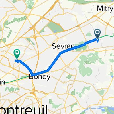 De 146 Boulevard Charles Vaillant, Tremblay-en-France à 15 Rue Raymond Lefèvre, Drancy