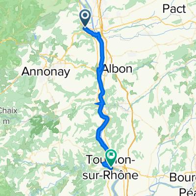 12: ViaRhôna de Sablons / Sarras à Tournon-sur-Rhône / Glun