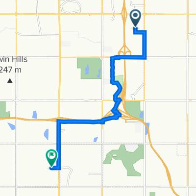 7419 S 109th E Ave, Tulsa to 10638 S Memorial Dr, Tulsa