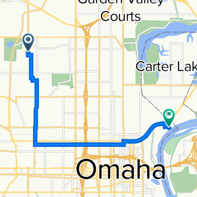 North 42nd Street 3928, Omaha to Freedom Park Road 151, Omaha