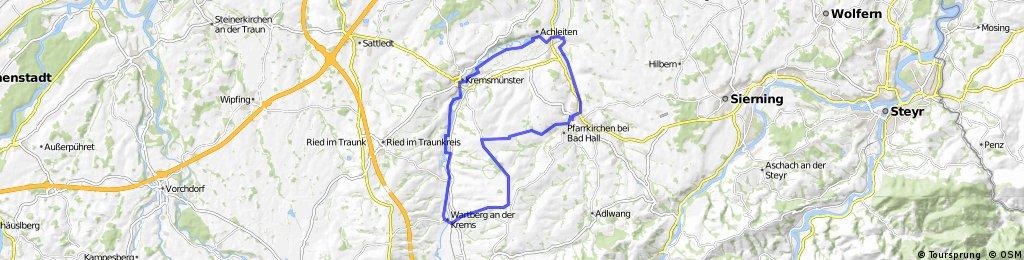 Pfarrkirchen - Krühub - Wartberg - Kremsmünster - Rohr - Pfarrkirchen