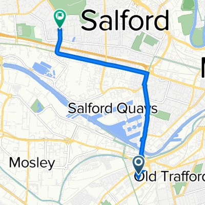 White City Retail Park, Chester Road, Manchester to 178 Weaste Lane, Salford