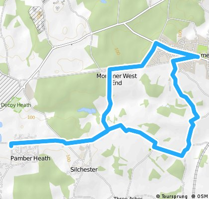 Pamber to Mortimer hilly circuit