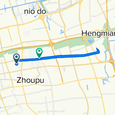 Route to No.2707 Hunan Highway, Shanghai
