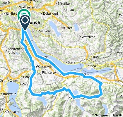 Zürich-Horgen-Siebnen-Sattelegg-Einsiedeln-Unterägeri-Sihltal-Zürich