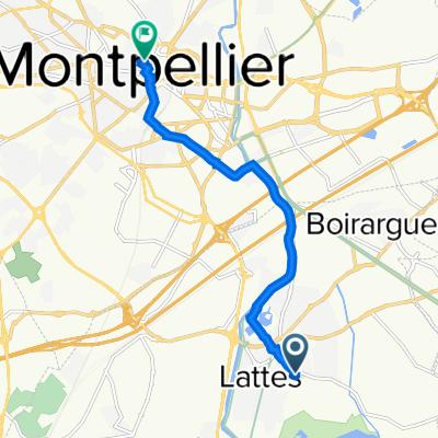 De 420 Avenue de Pérols, Lattes à 8 Rue Germain, Montpellier
