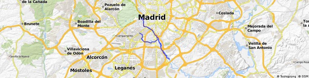 Recorriendo el Manzanares - Parque Lineal y Madrid Río