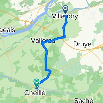 De Allée Coleman-Carvallo, Villandry à Rue Nationale, Azay-le-Rideau