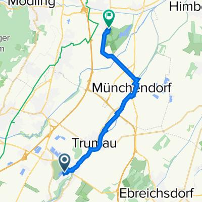Promenadenweg 2, Oberwaltersdorf nach Schloßplatz 1, Laxenburg