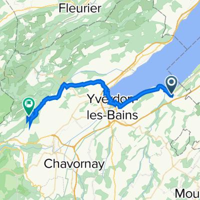 Chemin de Montchoisi 3, Yvonand to La Mathoulaz 1.1, Rances
