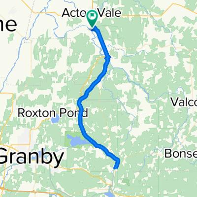 Acton Vale - Warden A-R 70 Km.