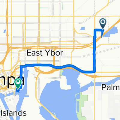 3403 N Garrison St, Tampa to 615 Channelside Dr, Tampa