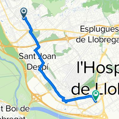 De Carrer Llorenç Martí 9, Sant Feliu de Llobregat a Carrer de Dolors Almeda i Roig 129, Cornellà de Llobregat