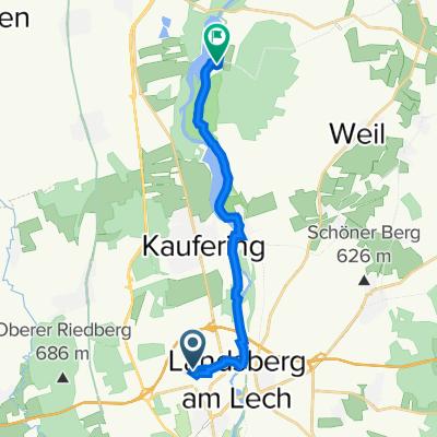 Eichenstraße 21, Landsberg am Lech nach Haltenberg 3, Scheuring