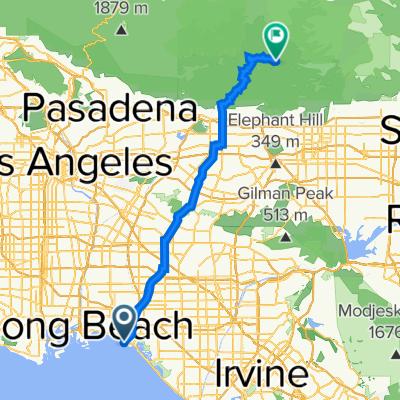 San Gabriel River Bike Path, Seal Beach to 23632–23640 E Fork Rd, Azusa