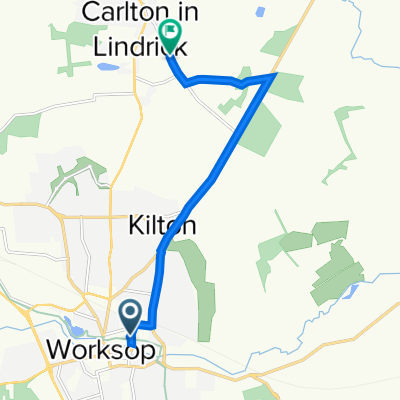 1-5 Kilton Road, Worksop to Tinker's Hill, Carlton-In-Lindrick, Worksop
