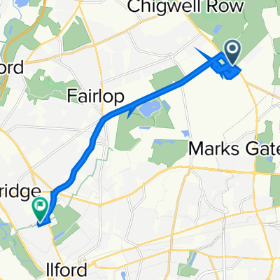 Hainault Forest Golf Cluba, Romford Road, Chigwell to 53 Cowley Road, Ilford