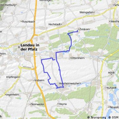 Zeiskam - Herxheim und zurück