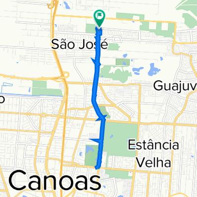 De Avenida Farroupilha, 8711, Canoas a Rua José Antônio Lucchese Gusmão, 51, Canoas
