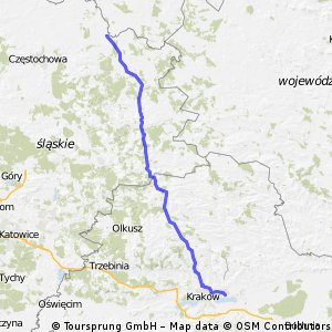 Mogiła-Garnek (116 km)