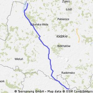 Garnek-Popów 140 km
