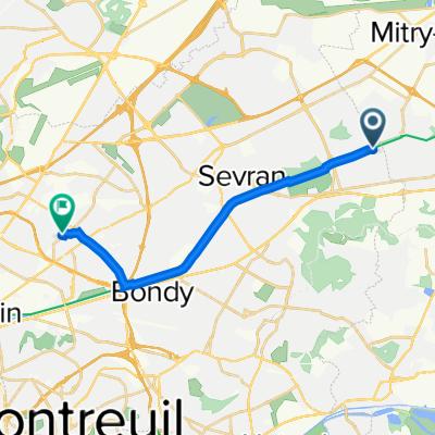 De Passage Florimont, Tremblay-en-France à 20 Rue Roger Salengro, Drancy