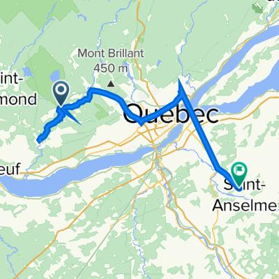 De Rue Louis Jolliet 1, Sainte-Catherine-de-la-Jacques-Cartier à Rang de la Montagne 385, Saint-Anselme