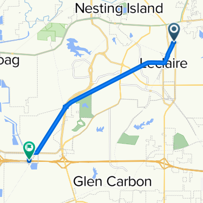 Madison County Transit Nickel Platye Trail, Edwardsville to Sand Rd, Pontoon Beach