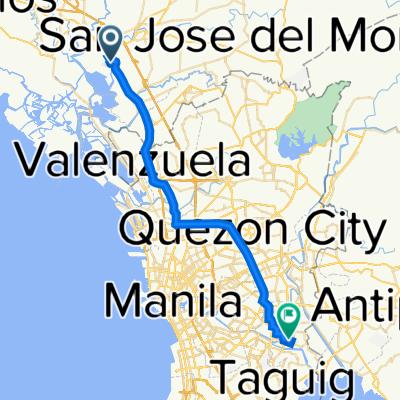 Bukid Road, Bocaue to Caruncho Avenue, Pasig City