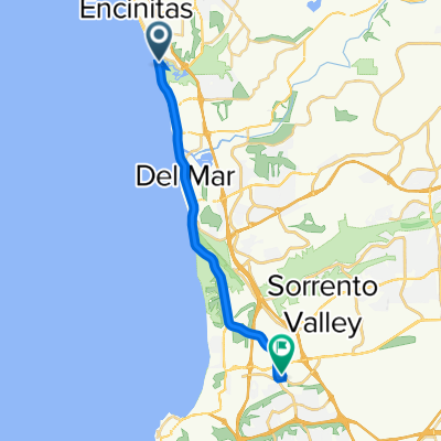 2571 S Coast Hwy 101, Encinitas to 8800 Lombard Pl, San Diego