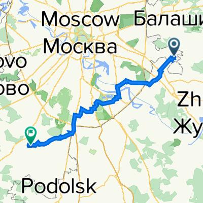 От улица Недорубова 26, Москва до Ямонтово