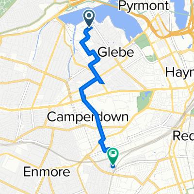 18–40 Eglinton Road, Glebe to 15 Burren Street, Erskineville