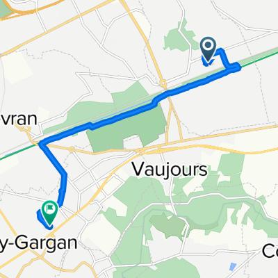 Itinéraire vers 2A Rue François Villon, Livry-Gargan