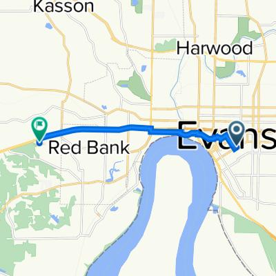 701–799 Walnut St, Evansville to 446–498 S Boehne Camp Rd, Evansville