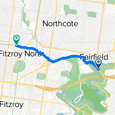 Route to Capital City Trail, Fitzroy North