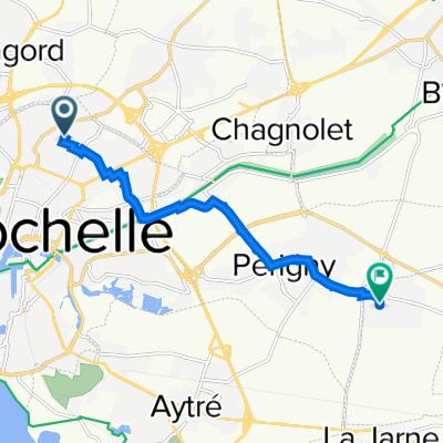 De 54 Rue des Sports, La Rochelle à 32 Rue de Nice, Saint-Rogatien