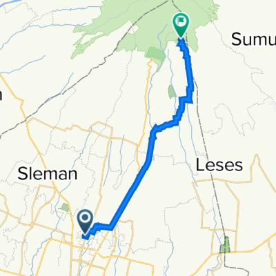 Jalan Palagan Tentara Pelajar No.52, Kecamatan Ngaglik to Kalitengah Kidul, Kecamatan Cangkringan